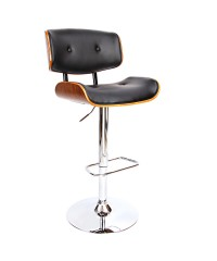 Sleek Wooden Bar Stool