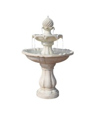 Solar Power Three-Tier Water Fountain - Ivory