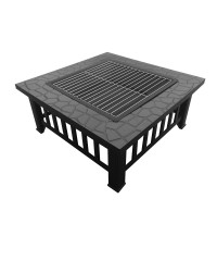 Fire Pit BBQ Table Grill Stone Pattern