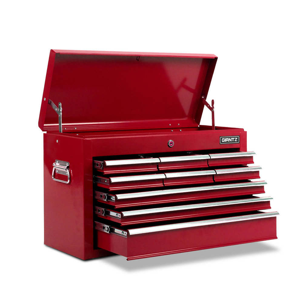 9 Drawers Toolbox Red