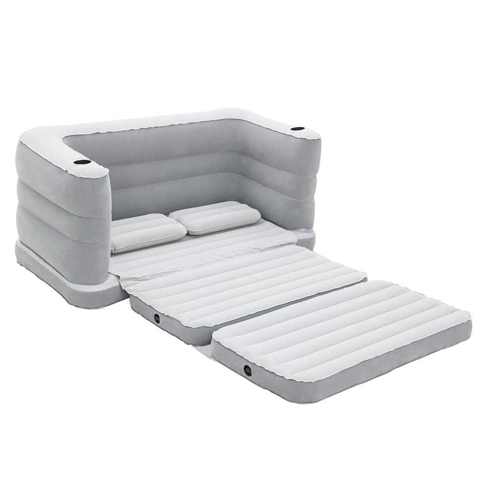 Bestway inflatable sofa air bed grey - Colchon plegable carrefour ...