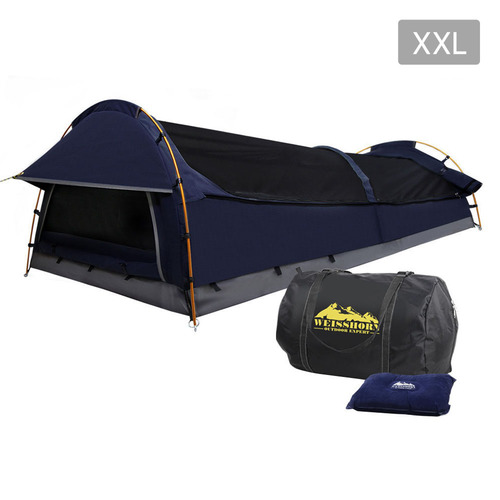 Deluxe king single camping swag navy for Bedroom kandi swag bag