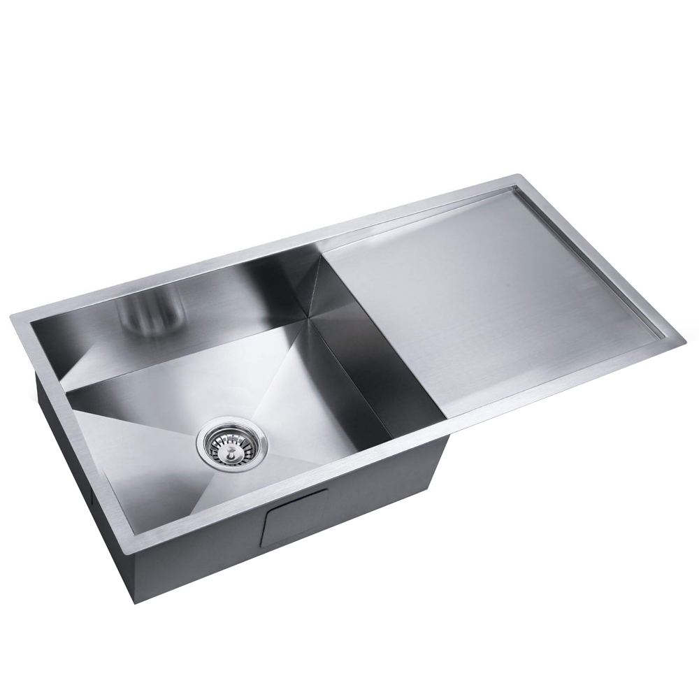 Stainless Steel Kitchen Laundry Sink With Draining Board