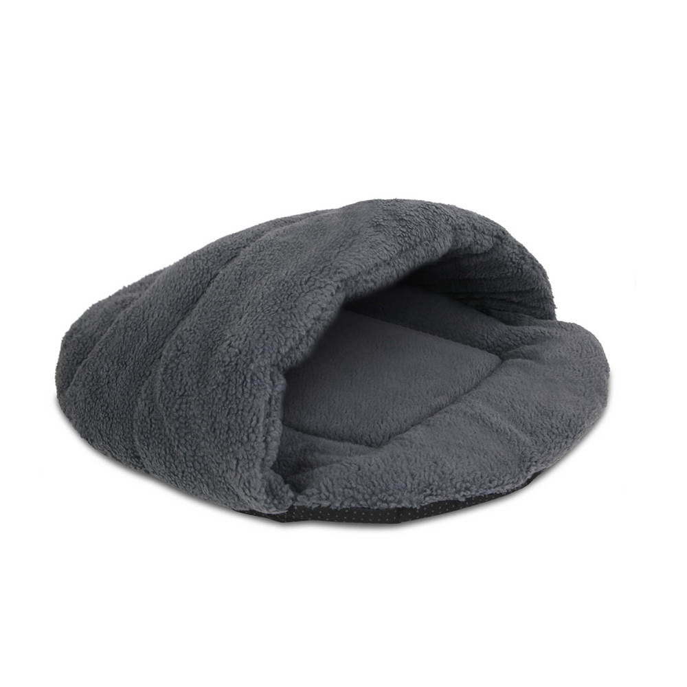 Cave Style Pet Bed Grey Medium