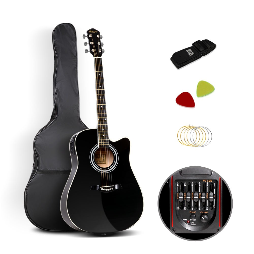 41 Inch 5 Band Eq Electric Acoustic Guitar Black