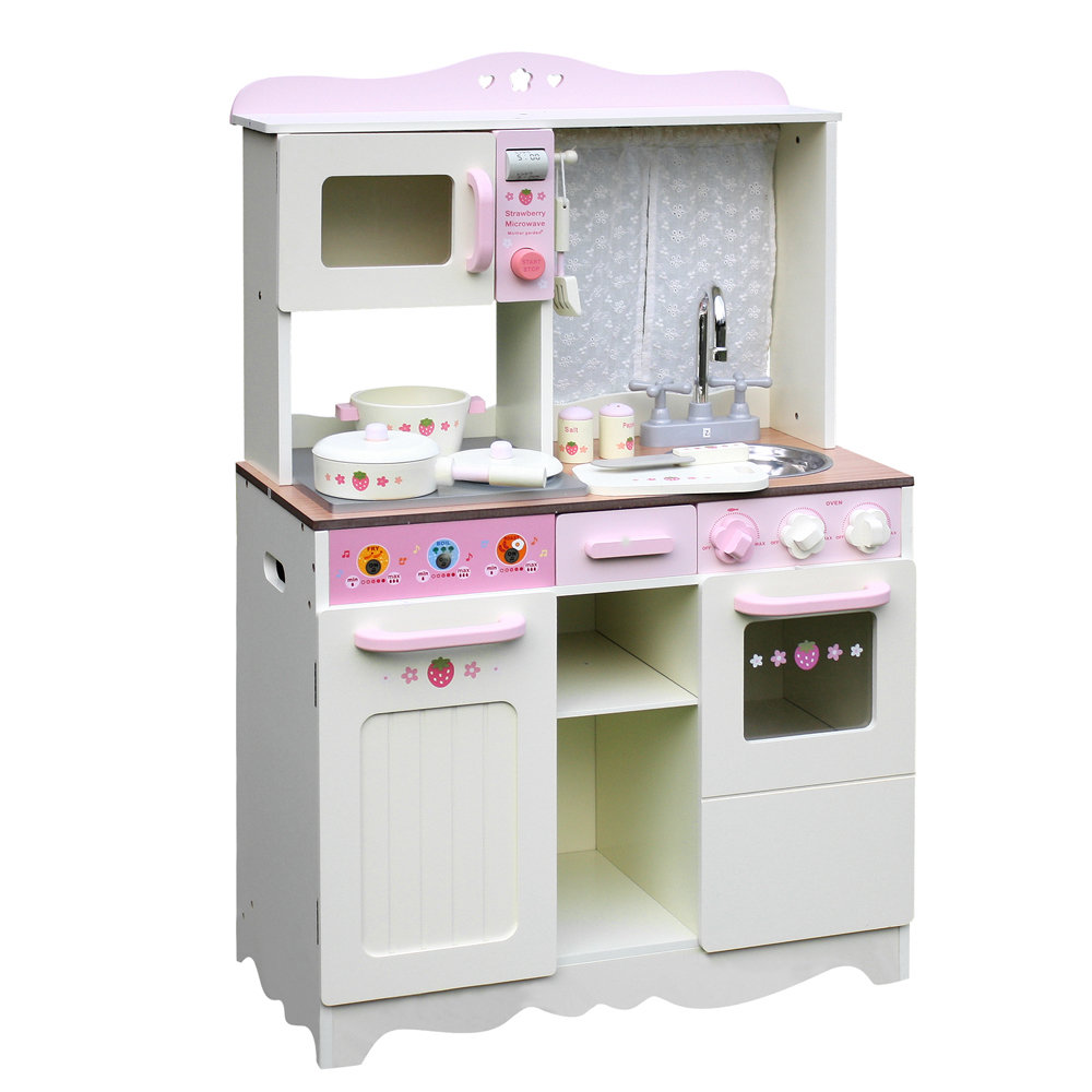 Children Wooden Kitchen Play Set