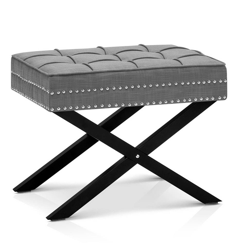 Seat Footstool Bench Stool Ottoman Grey